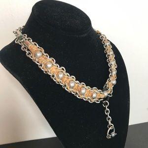 handmade Jewelry - Vintage Handmade Hemp Chainmaille Necklace